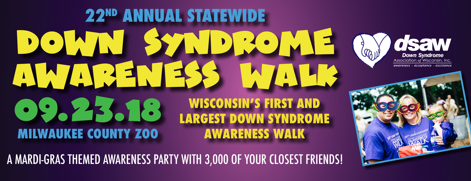 22nd Annual Statewide Down Syndrome Awareness Walk